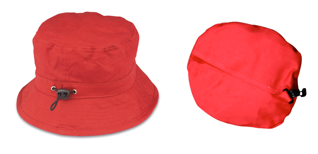 89be3bad2228d Foldable Red Bucket Hat - Red Hat Ladies UK Shop